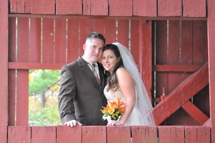 The fall colors in this wedding were complimented by the scenery at Hanover Park.