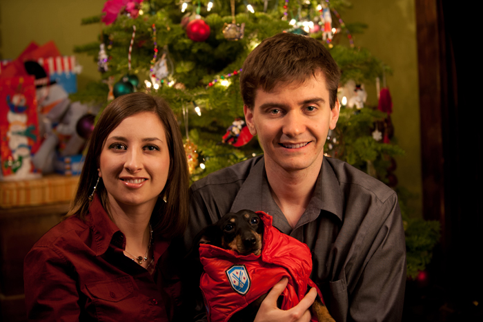Christmas family portrait