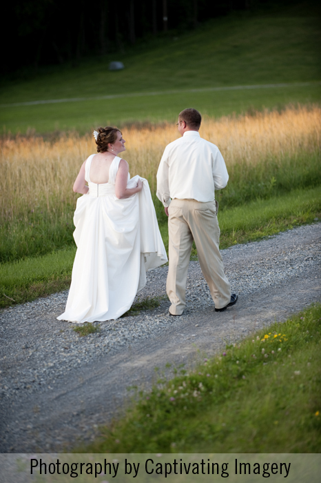 photography of the bride and groom at sunset