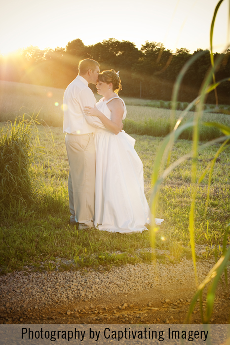 Pittsburgh sunset portrait of a bride and groom