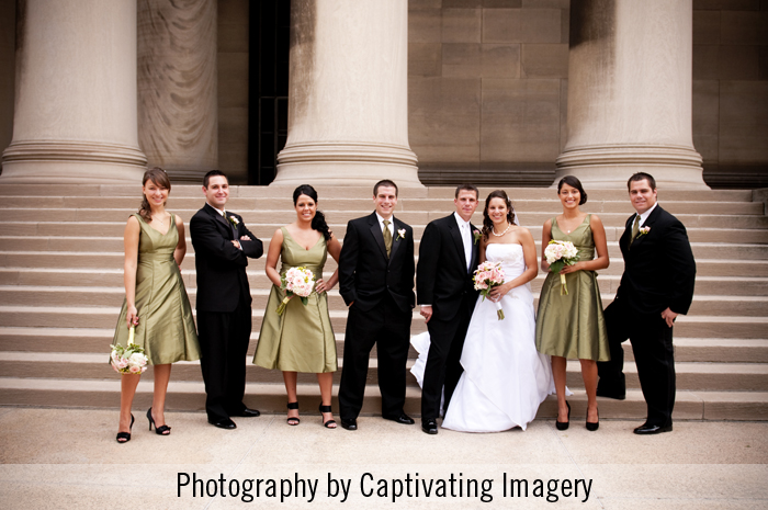 Bridal party at the Mellon Institute in Pittsburgh