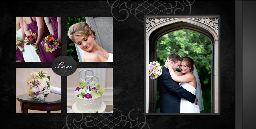 Pittsburgh wedding album design
