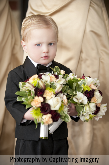 Ring bearer at a Pittsburgh wedding