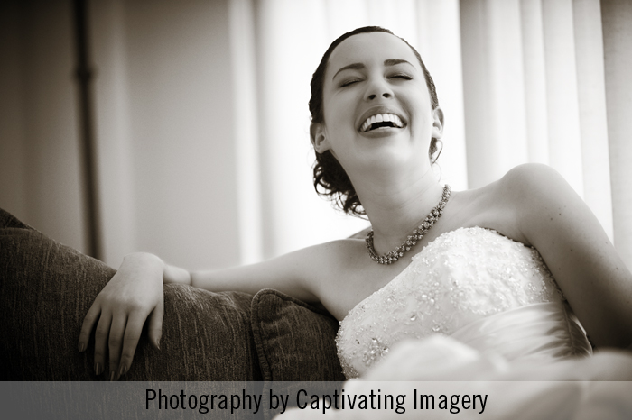 laughing bride photography