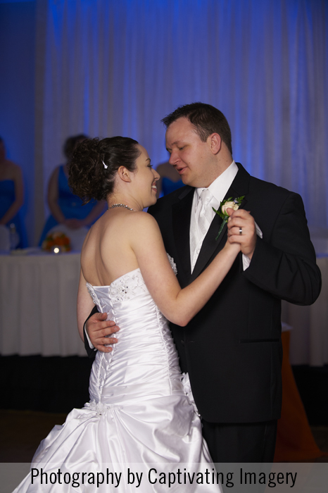 first dance with the bride and groom