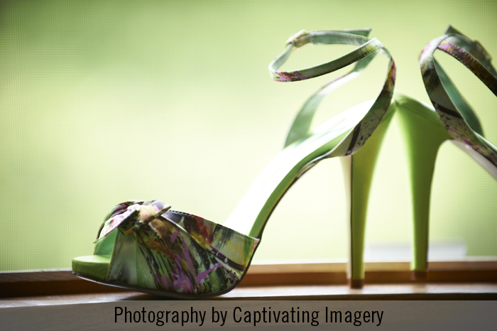green bridesmaids shoes