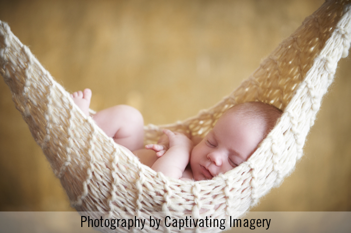 baby portrait in a hammock