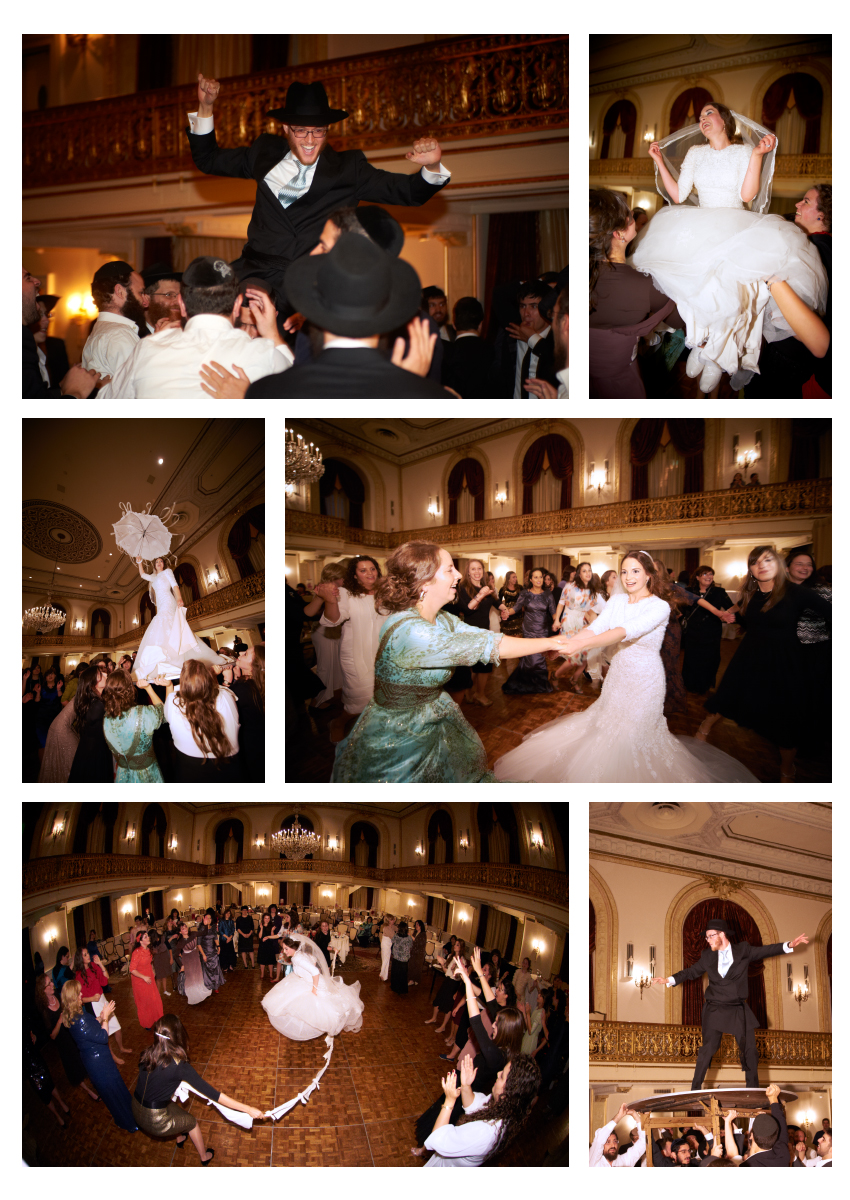 Jewish Orthodox wedding reception traditions