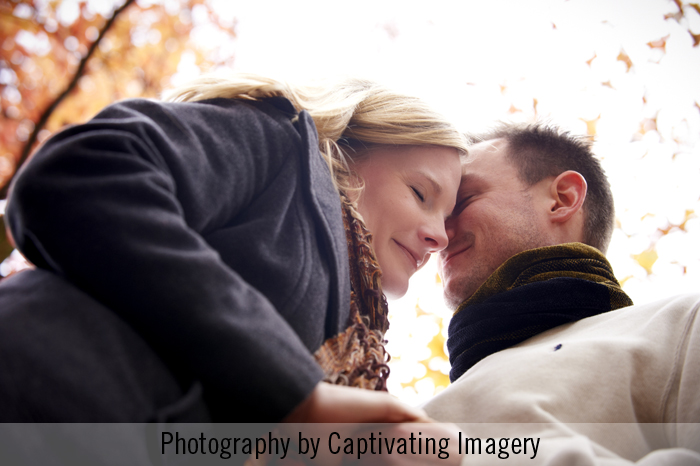 low angle portrait of couple