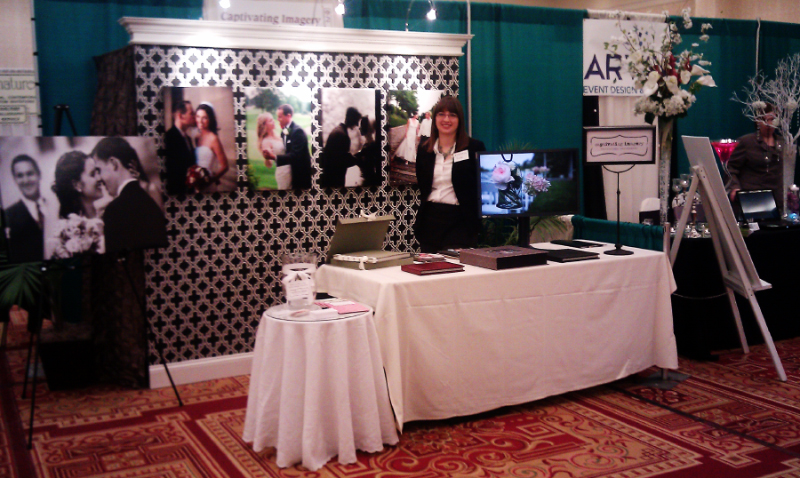 wedding photography booth at the bridal show