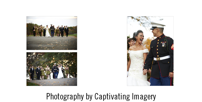 on-location bridal party portraits