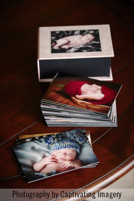 mounted prints of newborn photography