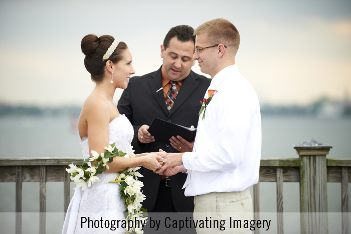 wedding ceremony on Charleston Harbor