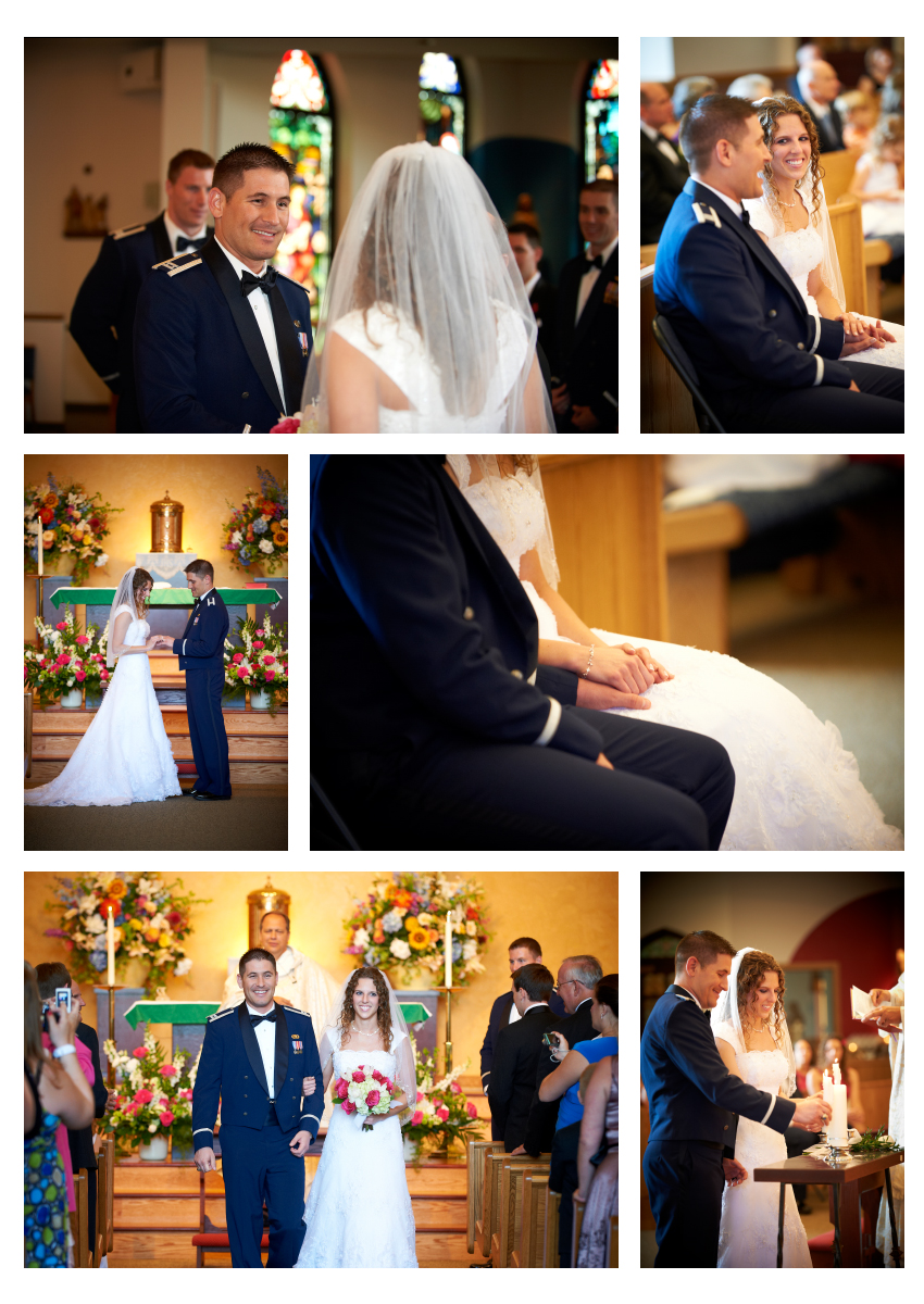 wedding ceremony at St. Joseph's Parish in Pittsburgh