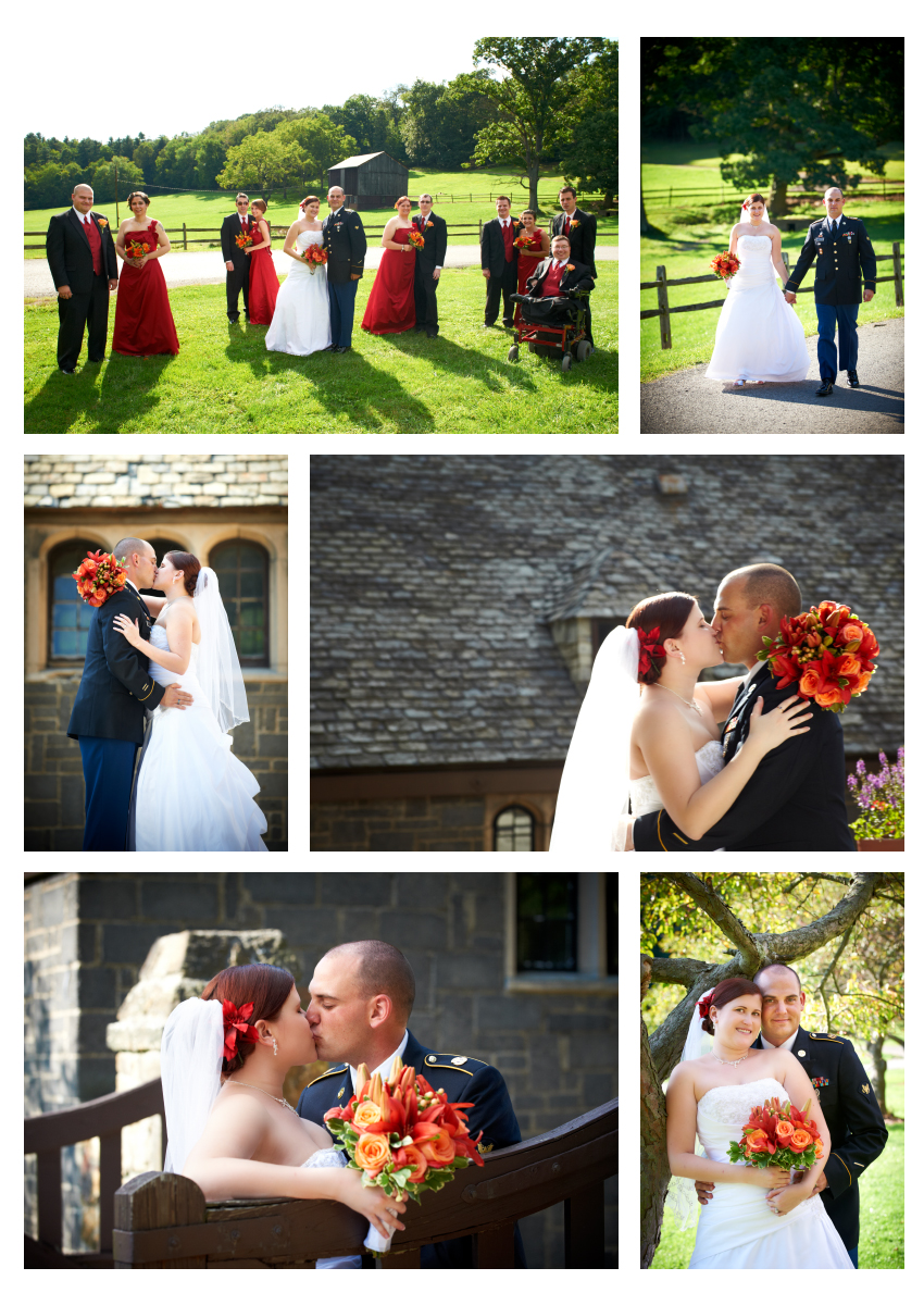 bridal party, bride and groom portraits