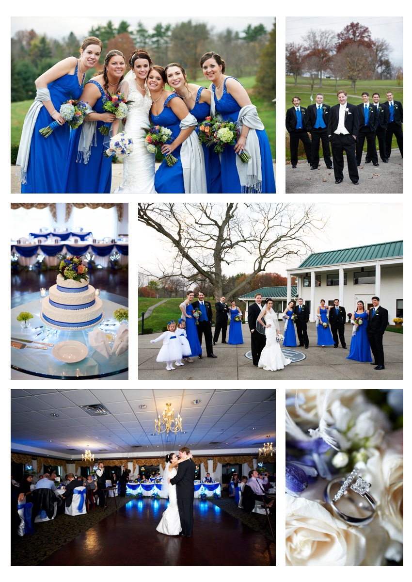 reception and bridal party photos