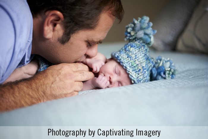 baby and dad portrait