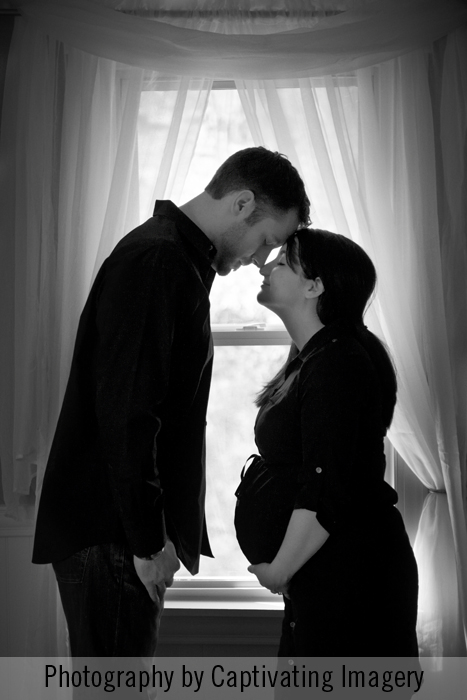 in-home maternity photo