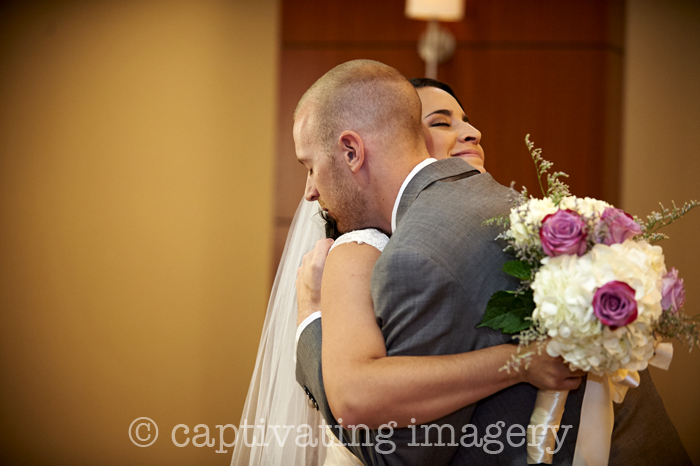 embracing after the ceremony