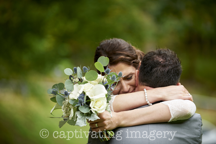 embrace after the ceremony