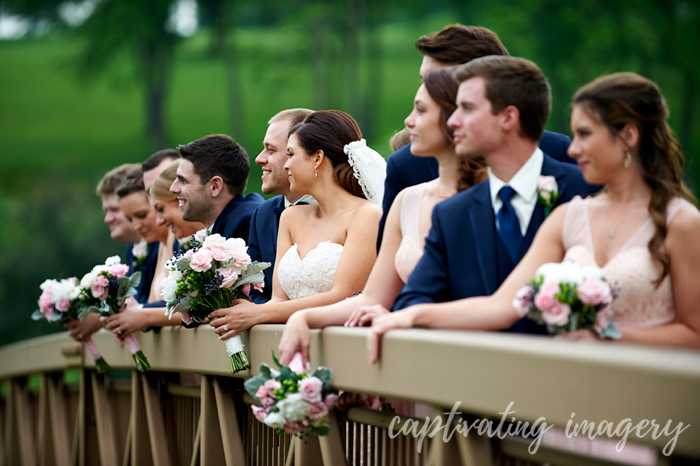 bridal party at Valley Brook Country Club