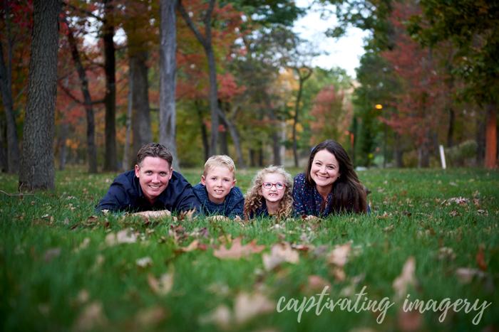 family and fall foliage