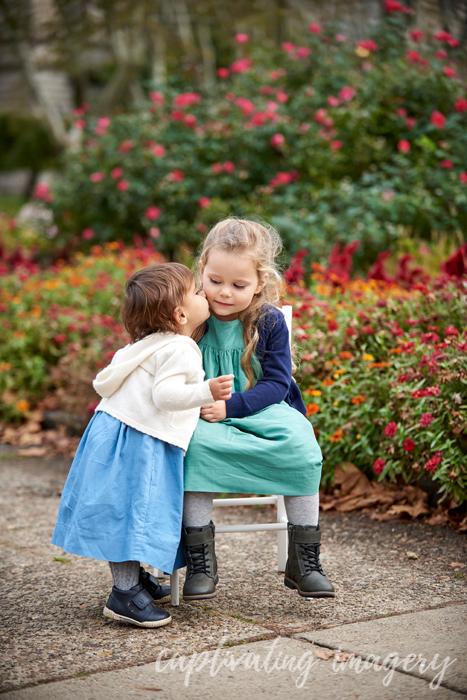 little sisters kiss