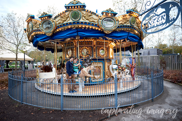 Carousel rides are a good end to a session.